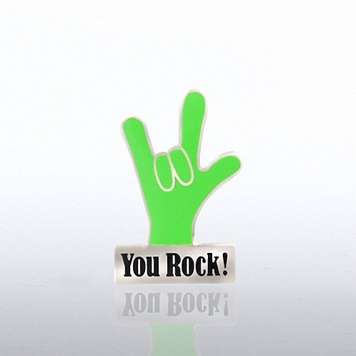 You Rock Hand Lapel Pin