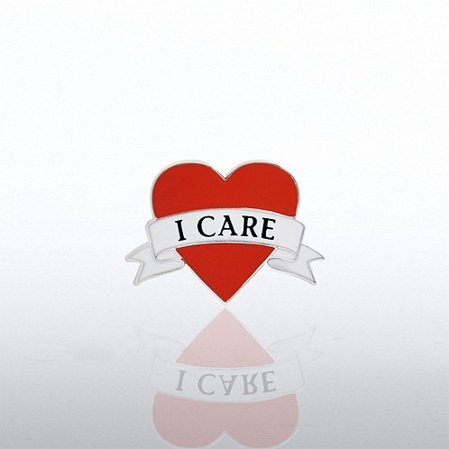 I Care Heart Lapel Pin
