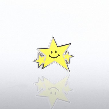 Lapel Pin - Smiley Star