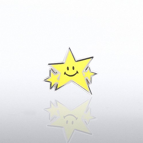 Smiley Star Lapel Pin