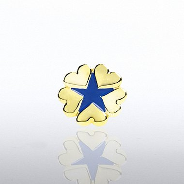 Lapel Pin - 5 Hearts Star