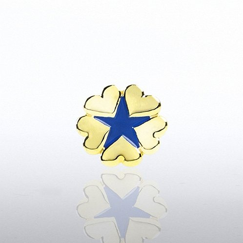5 Hearts Star Lapel Pin