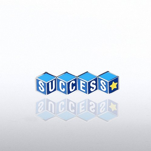 Success Blocks Lapel Pin