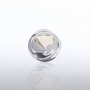 Lapel Pin - Heart Hand