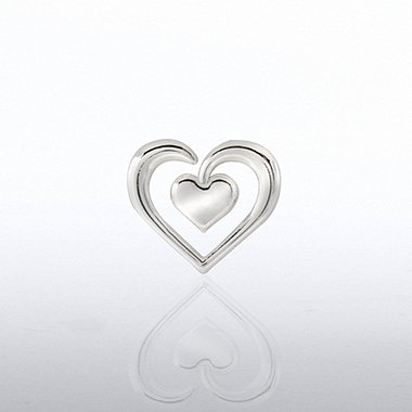 Lapel Pin - Duo Heart