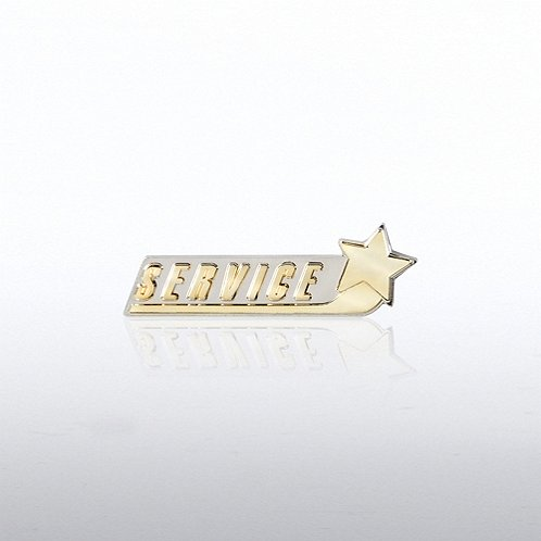 Swoosh Star Service Lapel Pin