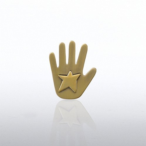 Star Hand Lapel Pin