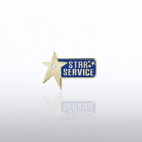 Service Star Gem Lapel Pin