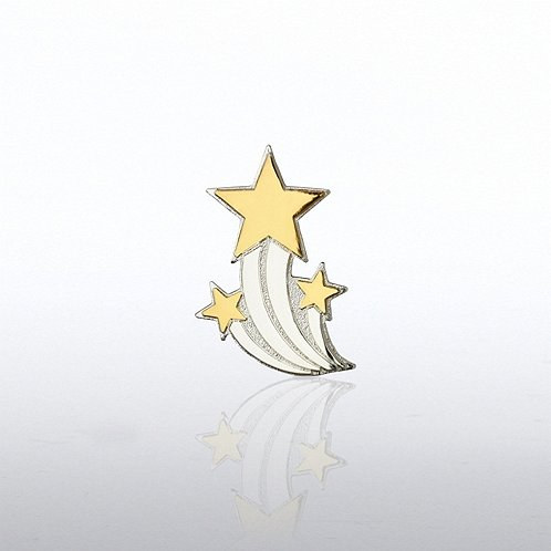 Shooting Star Trio Lapel Pin