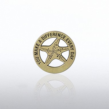 Lapel Pin - Gold Starfish