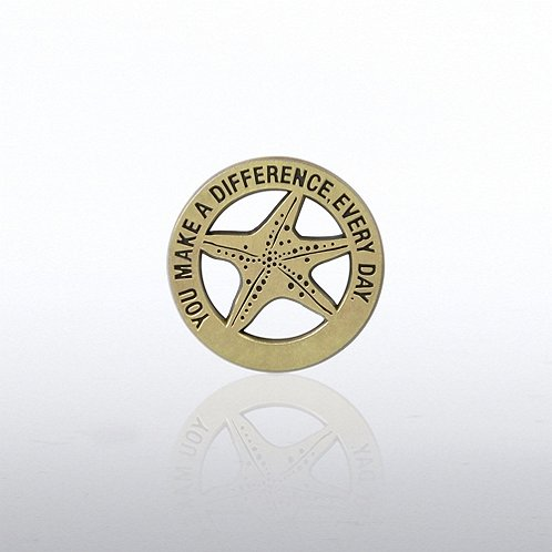 Gold Starfish Lapel Pin