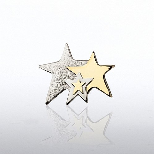 Three Stars Lapel Pin
