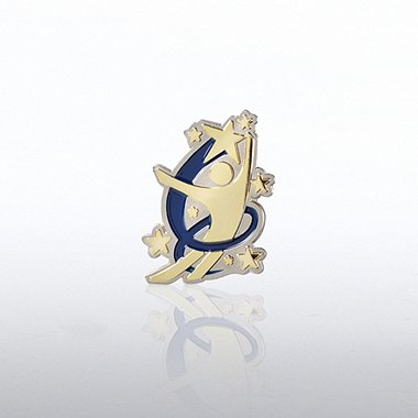 Lapel Pin - Swirl Guy
