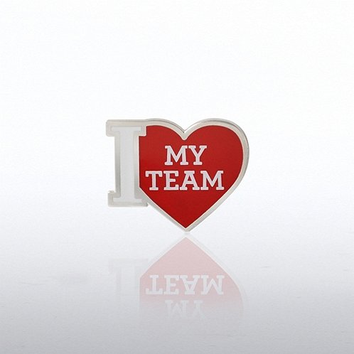 I Heart My Team Lapel Pin