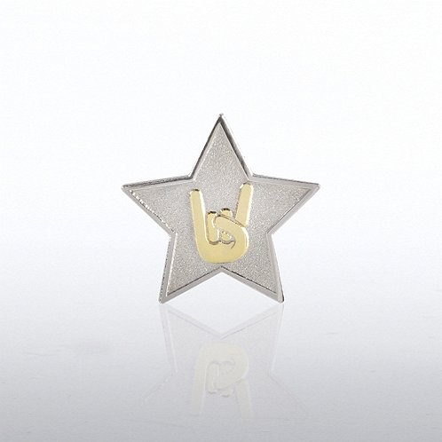 Star: You Rock Lapel Pin