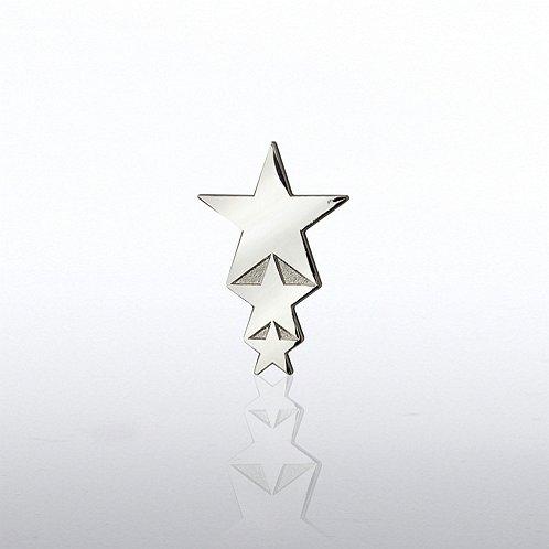 Cascading Stars Lapel Pin