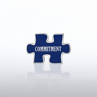 Lapel Pin - Puzzle Commitment