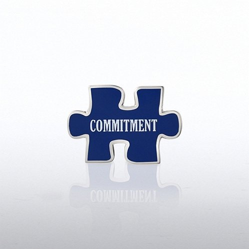 Puzzle Commitment Lapel Pin