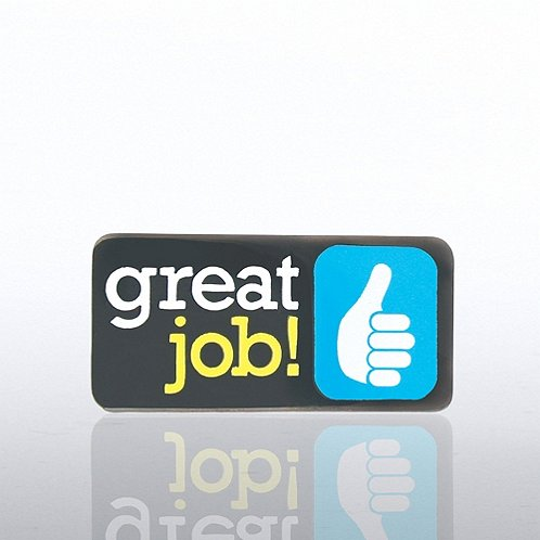 Thumbs Up Great Job Lapel Pin