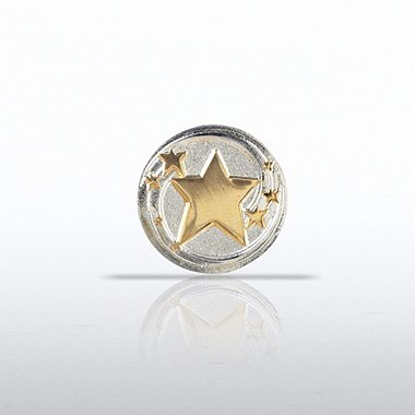 Lapel Pin - Shooting Stars Round