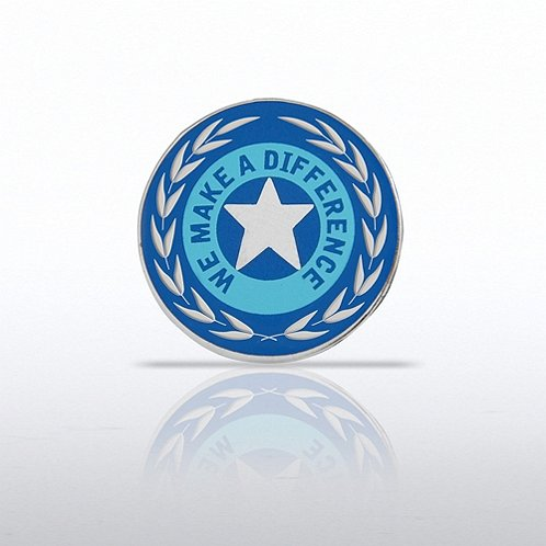 We Make a Difference Star w/ Laurels Lapel Pin