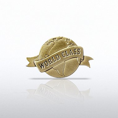 Lapel Pin - World Class - Globe