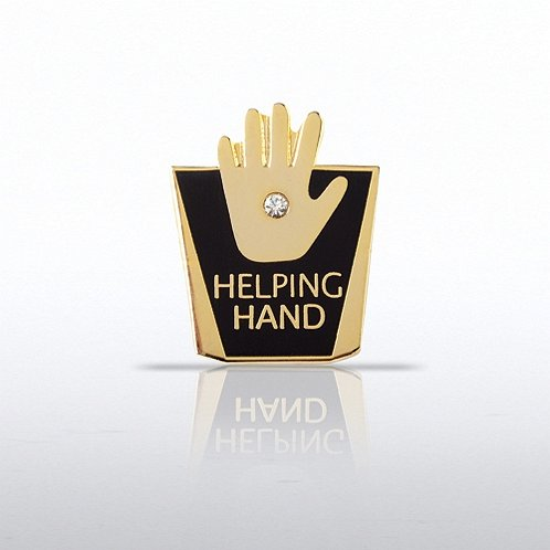 Helping Hand w/ Gem Lapel Pin