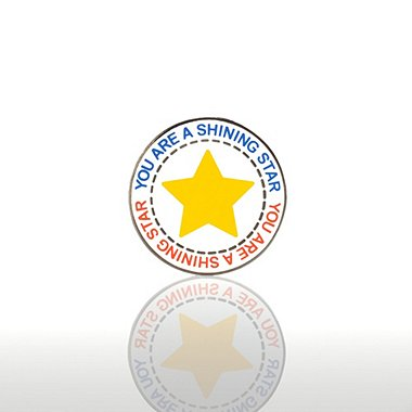 Lapel Pin - You are a Shining Star - Round
