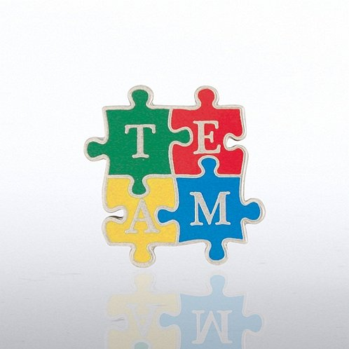 TEAM Puzzle Pieces - Bold Lapel Pin
