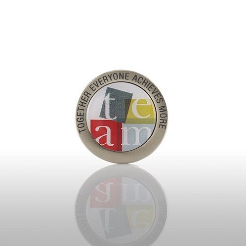 TEAM: Together Everyone Achieves More - Round Lapel Pin