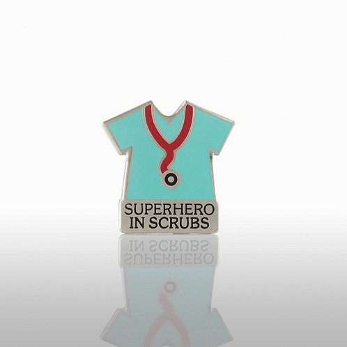 Superhero in Scrubs Lapel Pin