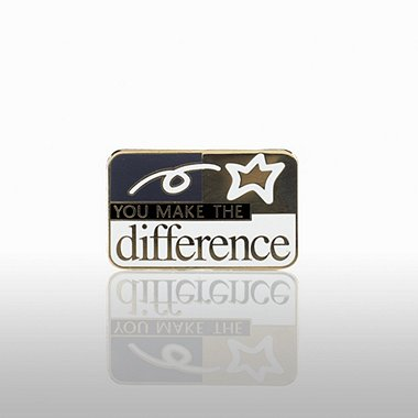 Lapel Pin - You Make the Difference - Classic Square