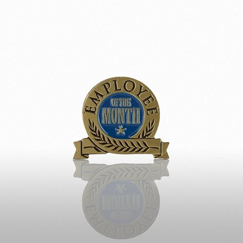 Employee of the Month - Blue Laurel Lapel Pin