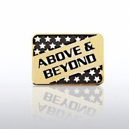 Lapel Pin - Above & Beyond - Square with Stars