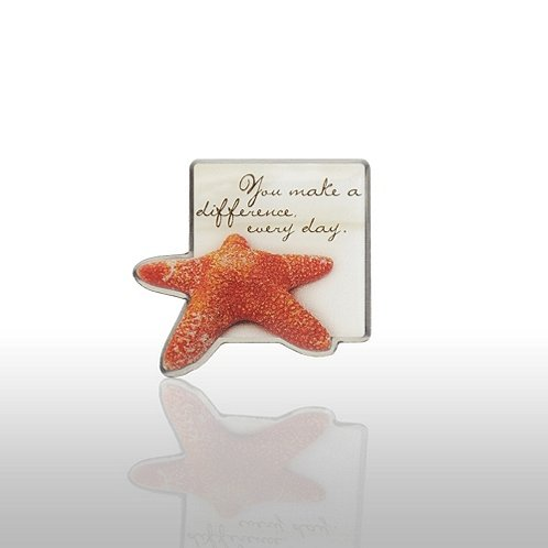 Starfish: Making the Difference - Sand Star Lapel Pin