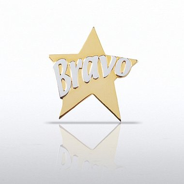 Lapel Pin - Bravo Star