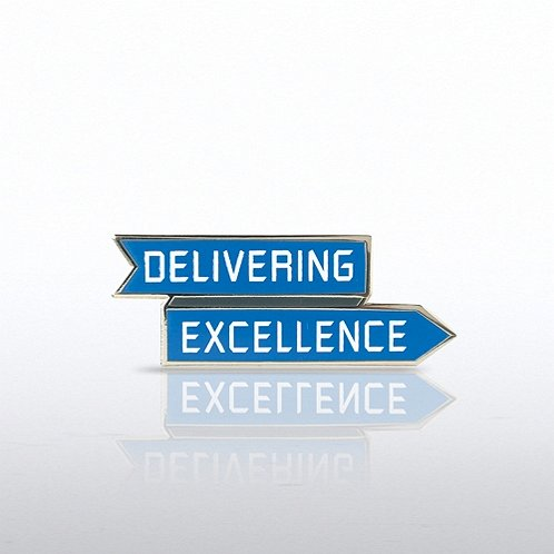 Delivering Excellence Arrow Lapel Pin
