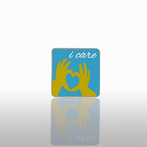 I Care Hands Lapel Pin