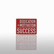 Lapel Pin - Dedication + Motivation = Success