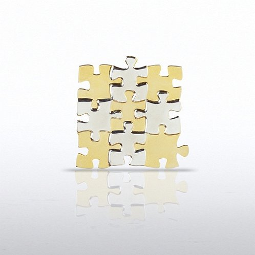 Essential Piece Grid Lapel Pin