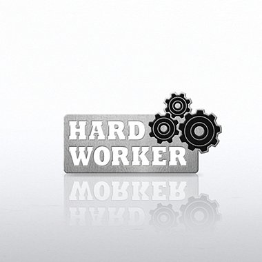 Lapel Pin - Gears - Hard Worker