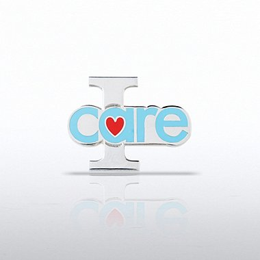 Lapel Pin - I Care - Heart