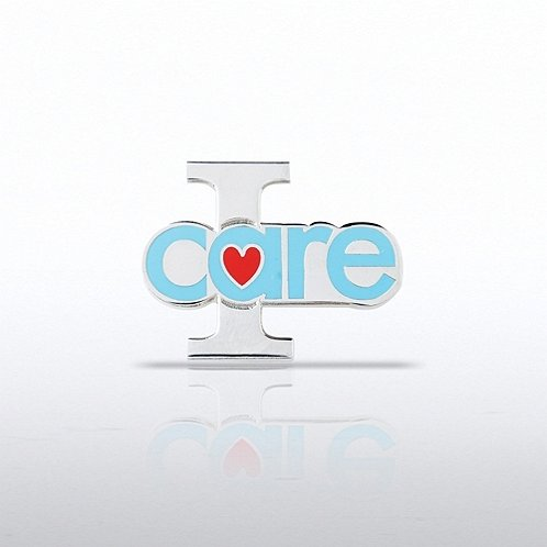 I Care - Heart Lapel Pin