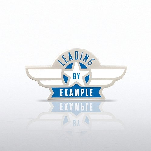 Leading by Example - Wings Lapel Pin