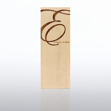 Wood Inlay Trophy - Excellence