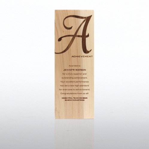 Achievement Wood Inlay Trophy