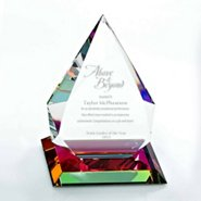 Vibrant Luminary Crystal Trophy Collection: Tear Drop