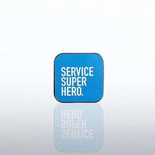 Customer Service - Service Super Hero Lapel Pin