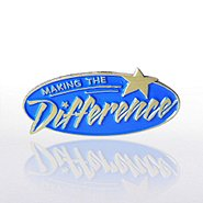 Lapel Pin - Making the Difference Blue