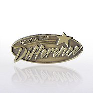 Lapel Pin - Making The Difference Gold
